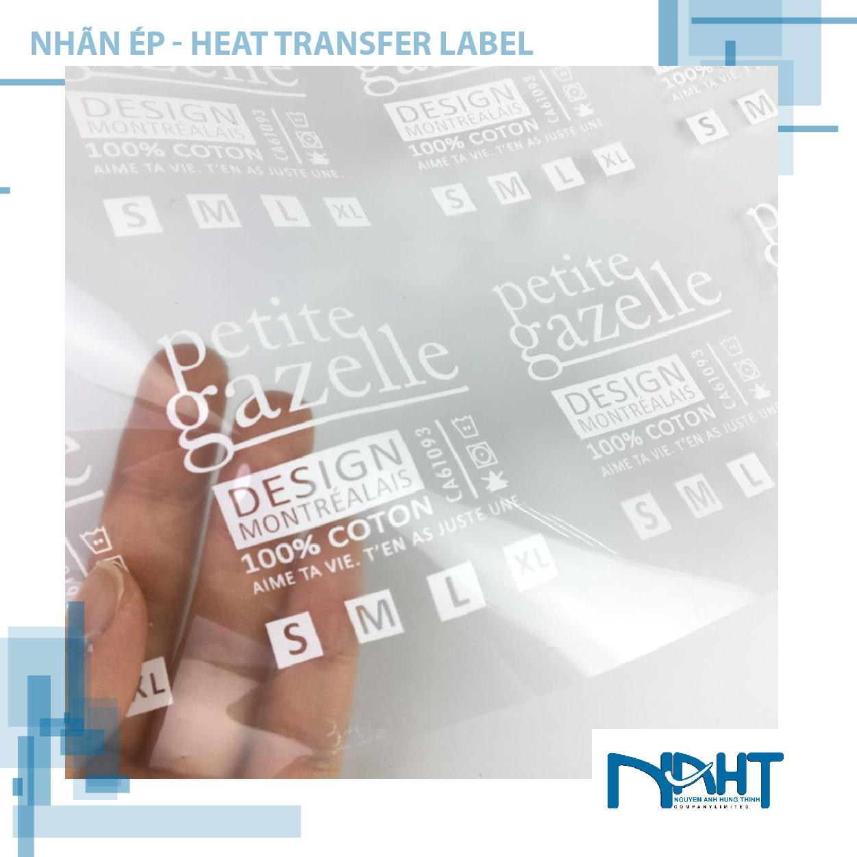Nhãn Ép - Heat transfer Label